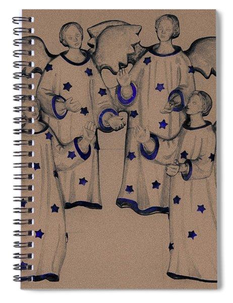 Choir Of Angels Spiral Notebook