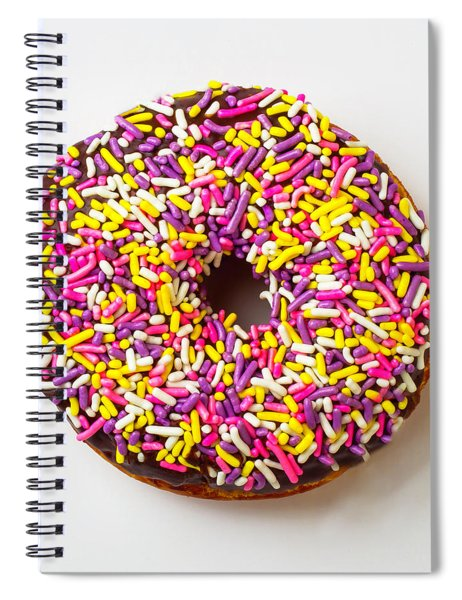 Cholocate Donut With Sprinkles Spiral Notebook