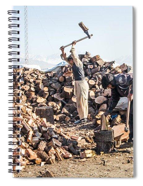 Chopping Wood Spiral Notebook