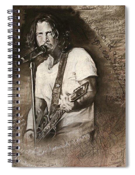 Chris Cornell Tribute With Lyrics Spiral Notebook