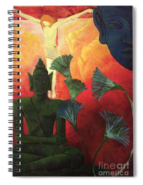 Christ And Buddha Spiral Notebook