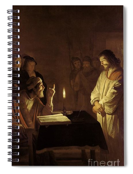 Christ Before The High Priest Spiral Notebook