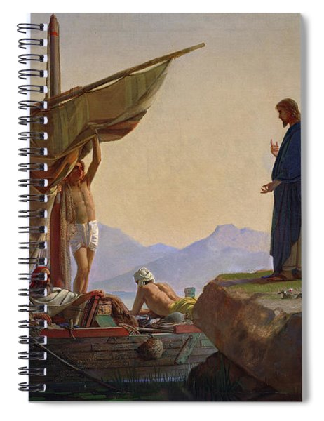 Christ Calling The Apostles James And John Spiral Notebook