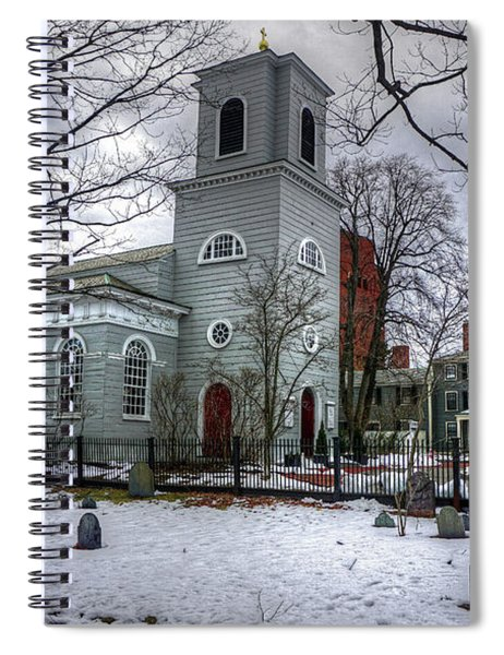 Christ Church In Cambridge Spiral Notebook