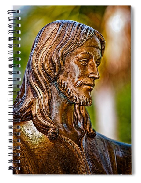 Christ In Bronze Spiral Notebook