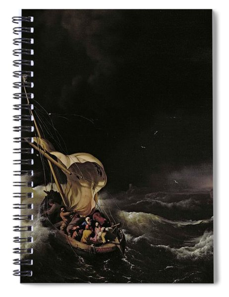 Christ In The Storm On The Sea Of Galilee Spiral Notebook