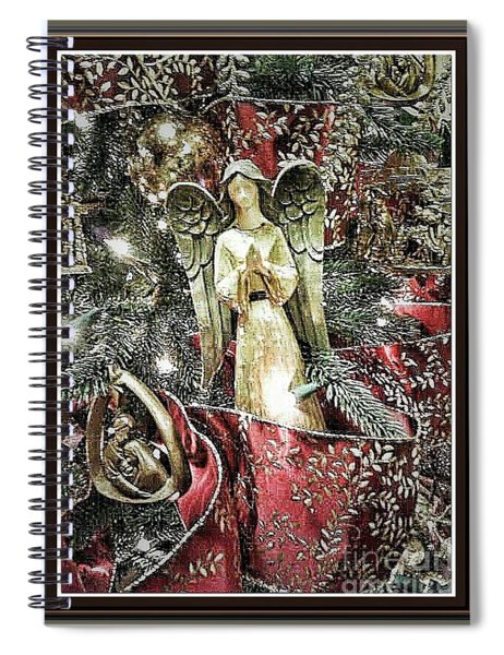 Christmas Angel Greeting Spiral Notebook