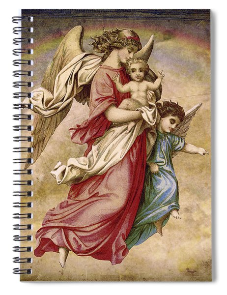 Christmas Angels And Baby Spiral Notebook