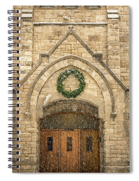 Christmas At Stone Chapel Spiral Notebook