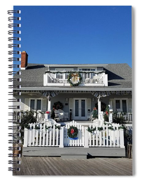 Christmas At The Inn On The Ocean Spiral Notebook
