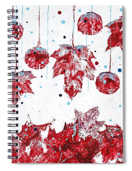 Christmas Decorations Of Nature Spiral Notebook