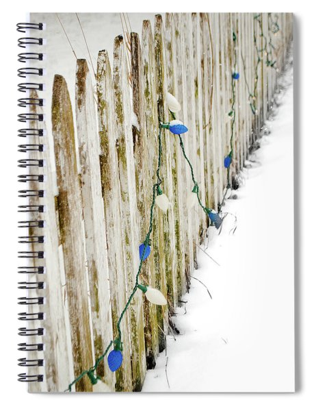 Christmas Fence Spiral Notebook