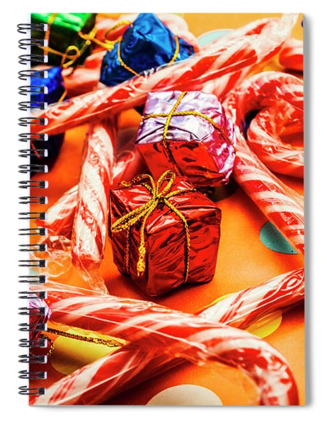 Christmas Holiday Background Spiral Notebook