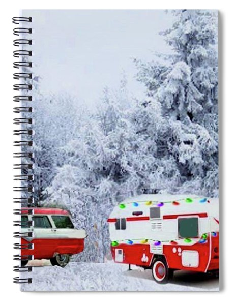 Christmas In The Fifties Spiral Notebook