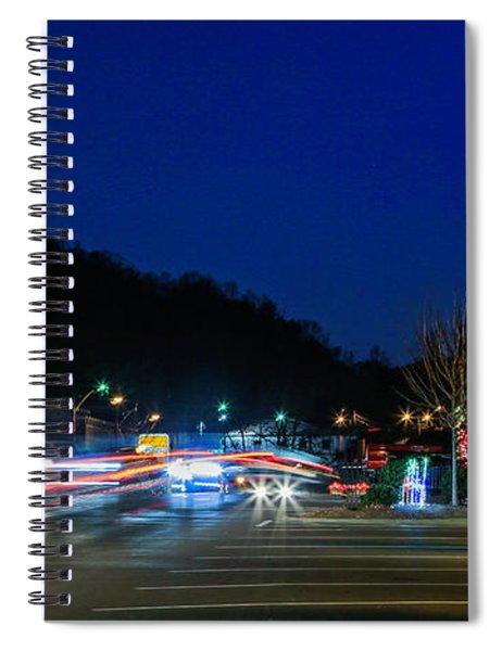 Christmas Light Show Spiral Notebook