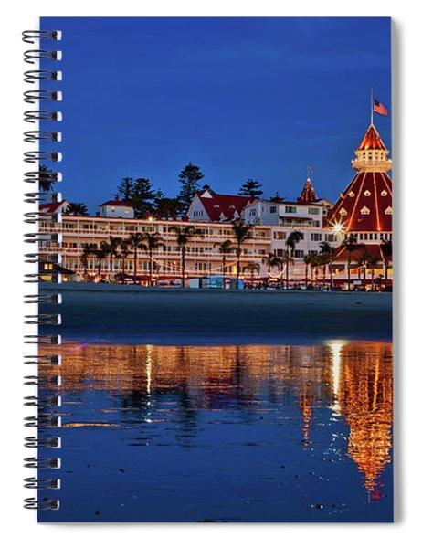 Christmas Lights At The Hotel Del Coronado Spiral Notebook