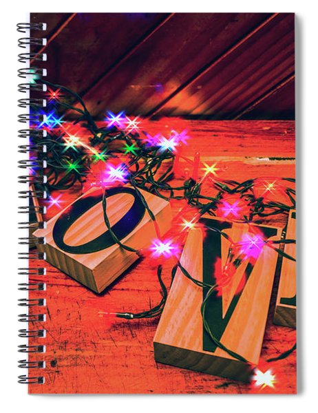 Christmas Love Decoration Spiral Notebook