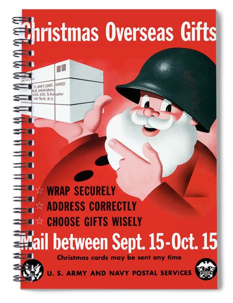 Christmas Overseas Gifts -- Ww2 Spiral Notebook by War Is Hell Store