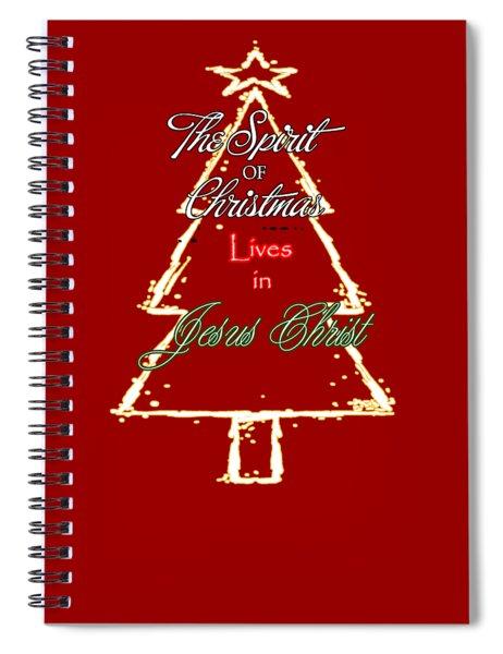Christmas Spirit Spiral Notebook