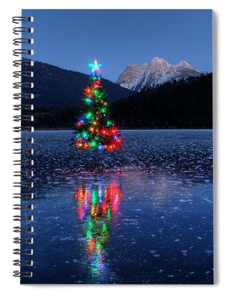 Christmas Spirit On Bull Lake Spiral Notebook