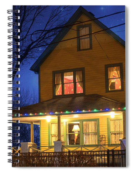 Christmas Story House Spiral Notebook