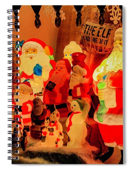 Christmas Times Past Spiral Notebook