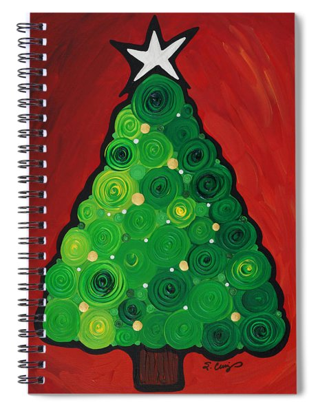 Christmas Tree Twinkle Spiral Notebook