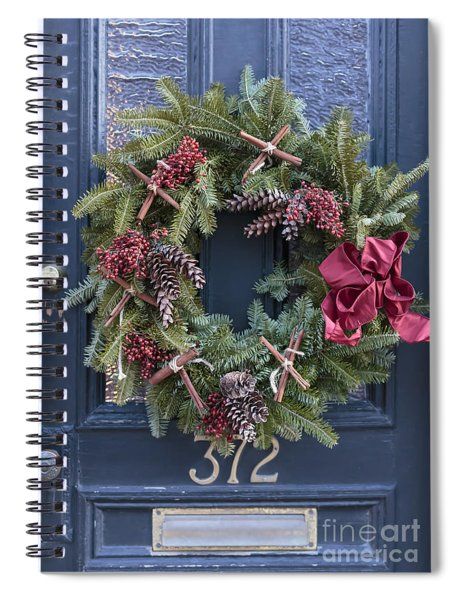 Christmas Wreath Spiral Notebook