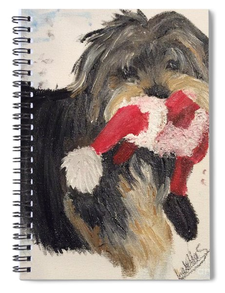 Christmas Yorkie Spiral Notebook