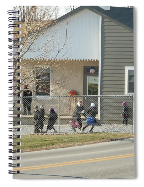 Christmastime At The Schoolhouse Spiral Notebook
