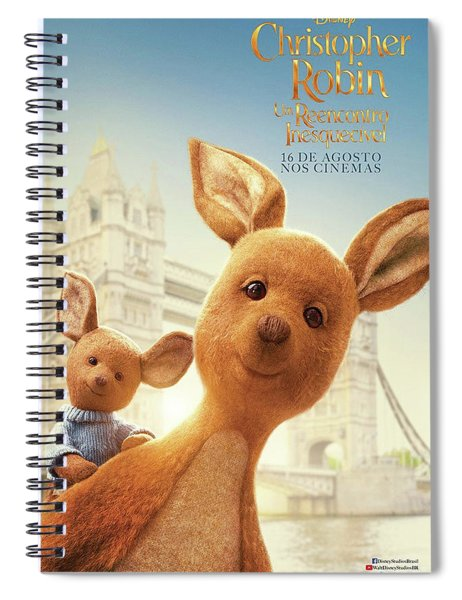 Christopher Robin D Spiral Notebook by Movie Poster Prints