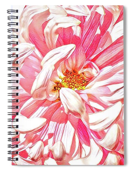 Chrysanthemum In Pink Spiral Notebook