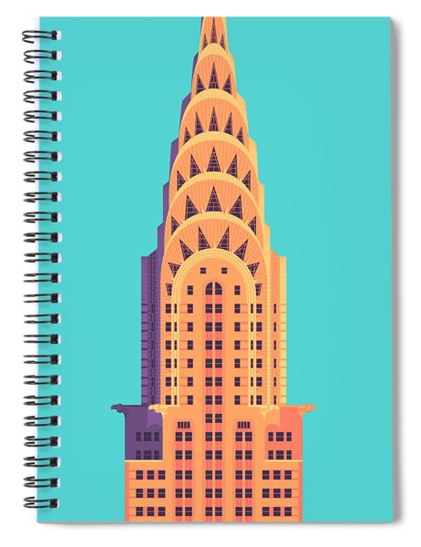 Chrysler Building - Cyan Spiral Notebook