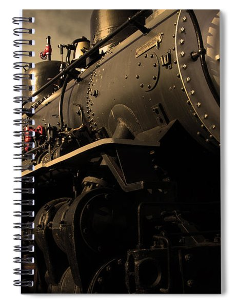 Chugging Across America In The Age Of Steam . Golden Cut . 7d12980 Spiral Notebook