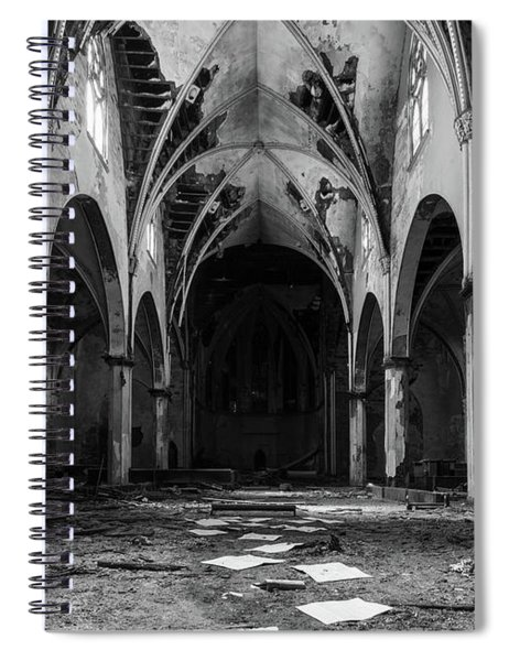 Church In Black And White Spiral Notebook