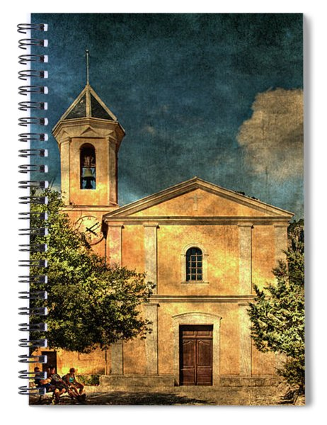 Church In Peillon Spiral Notebook