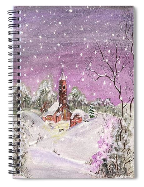 Church In The Snow Spiral Notebook