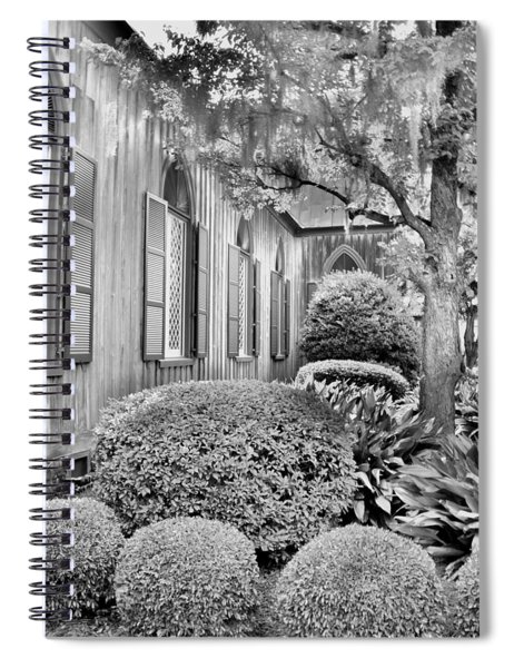 Church Of The Cross Bluffton Sc Black And White Spiral Notebook