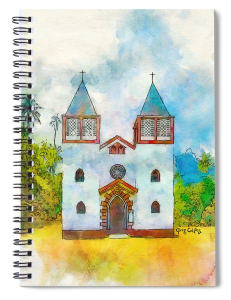 Church Of The Holy Family Spiral Notebook