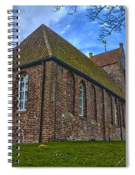 Church On The Mound Of Oostum Spiral Notebook