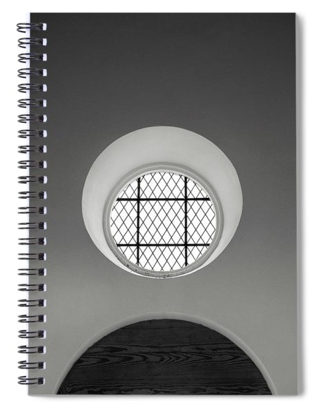 Church Window In Black And White Spiral Notebook