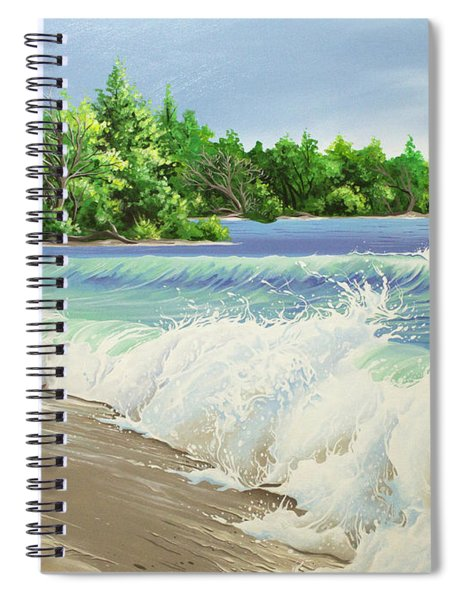 Churning Sand  Spiral Notebook