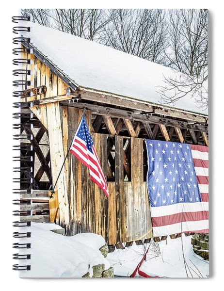 Cilleyville Bog Bridge Covered Bridge New Hampshire Spiral Notebook