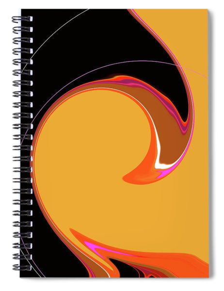 Spiral Notebook featuring the digital art Summer Chic 1960 by Gina Harrison