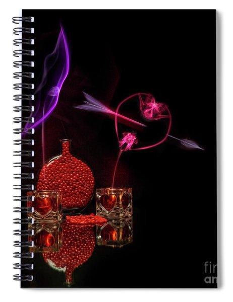 Cinnamon Hearts Spiral Notebook