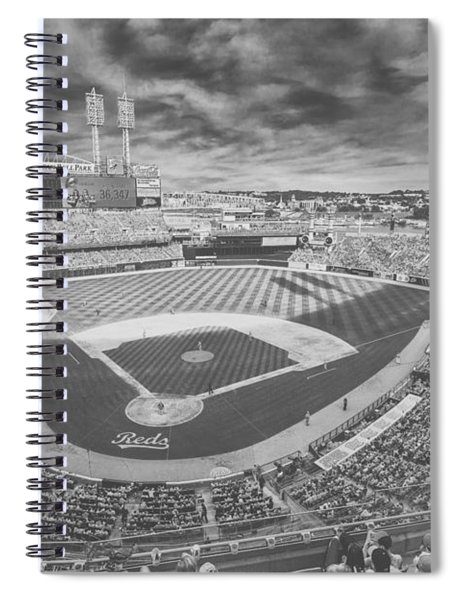 Cincinnati Reds Great American Ballpark Creative 6 Black White Spiral Notebook