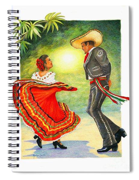 Cinco De Mayo Dancers Spiral Notebook