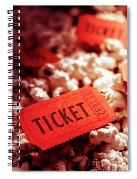Cinema Ticket On Snackbar Food Spiral Notebook