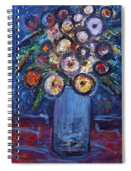 Circle Of Flowers Spiral Notebook