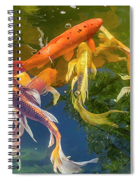 Circle Of Koi Spiral Notebook